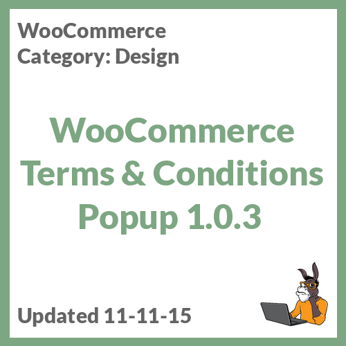 WooCommerce Terms & Conditions Popup 1.0.3