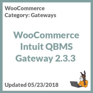 WooCommerce Intuit QBMS Gateway 2.3.3