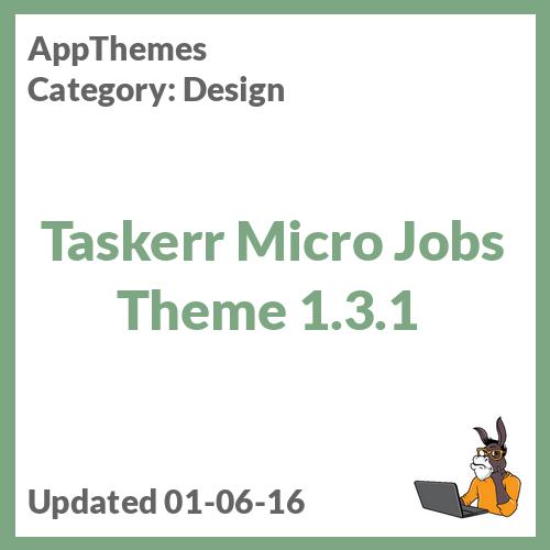 Taskerr Micro Jobs Theme 1.3.1