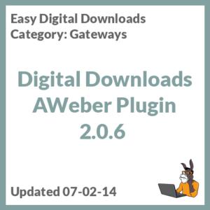 Digital Downloads AWeber Plugin 2.0.6