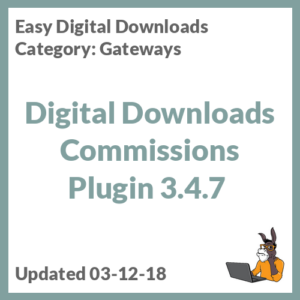 Digital Downloads Commissions Plugin 3.4.7