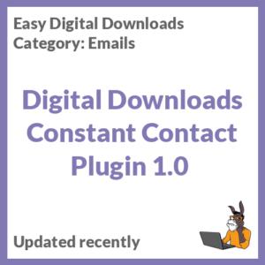 Digital Downloads Constant Contact Plugin 1.0