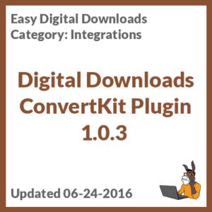 Digital Downloads ConvertKit Plugin 1.0.3