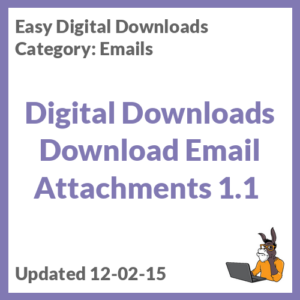 Digital Downloads Download Email Attachments 1.1