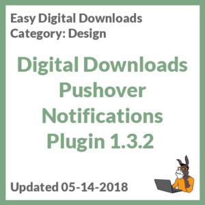 Digital Downloads Pushover Notifications Plugin 1.3.2