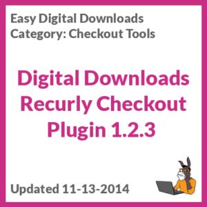 Digital Downloads Recurly Checkout Plugin 1.2.3