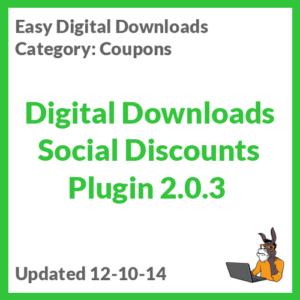 Digital Downloads Social Discounts Plugin 2.0.3