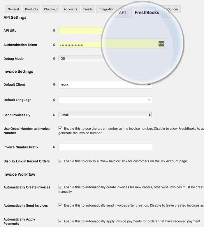 WooCommerce-Freshbooks_main-interface