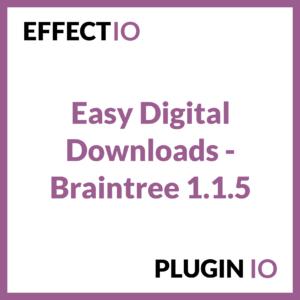 Easy Digital Downloads - Braintree