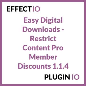 Easy Digital Downloads - Restrict Content Pro Member Discounts