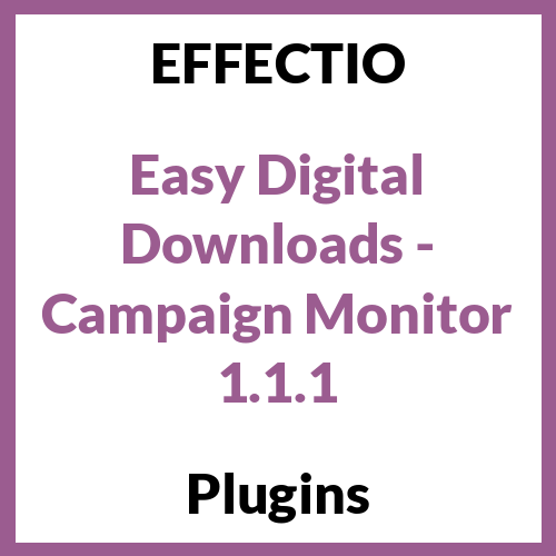 Easy Digital Downloads - Campaign Monitor