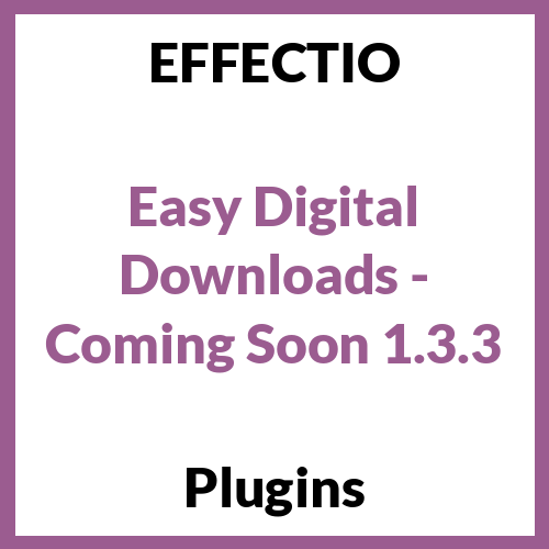 Easy Digital Downloads - Coming Soon