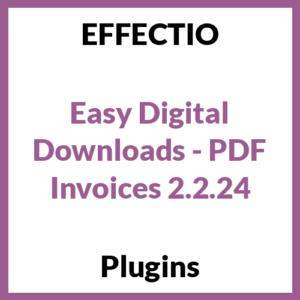 Easy Digital Downloads - PDF Invoices