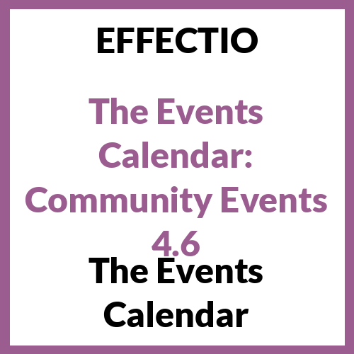 The Events Calendar: Community Events