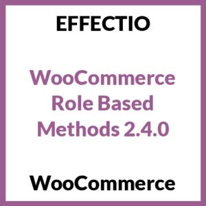 WooCommerce Role Based Methods