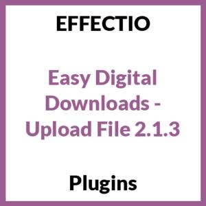 Easy Digital Downloads - Upload File