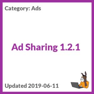 Ad Sharing 1.2.1