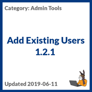 Add Existing Users 1.2.1