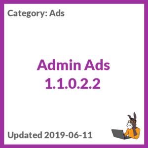 Admin Ads 1.1.0.2.2