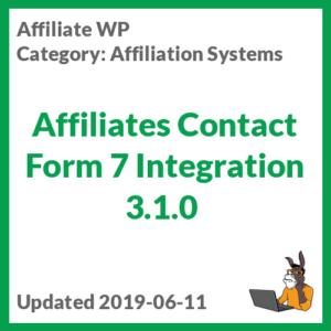 Affiliates Contact Form 7 Integration 3.1.0