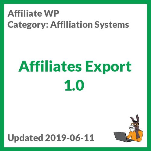 Affiliates Export 1.0