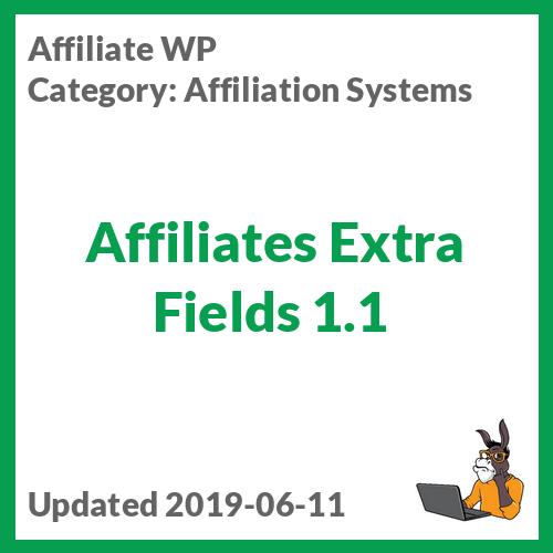 Affiliates Extra Fields 1.1