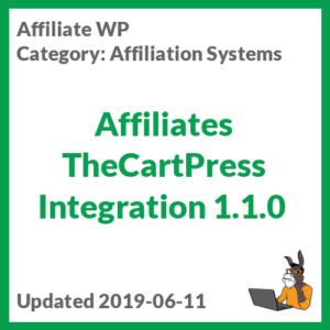 Affiliates TheCartPress Integration 1.1.0