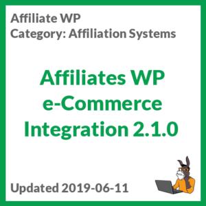 Affiliates WP e-Commerce Integration 2.1.0