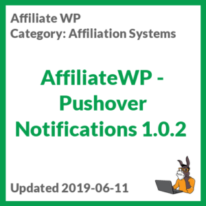 AffiliateWP - Pushover Notifications 1.0.2