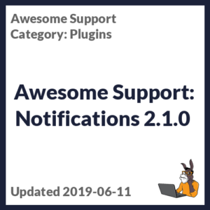 Awesome Support: Notifications 2.1.0