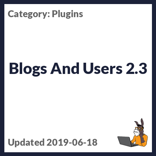 Blogs And Users 2.3