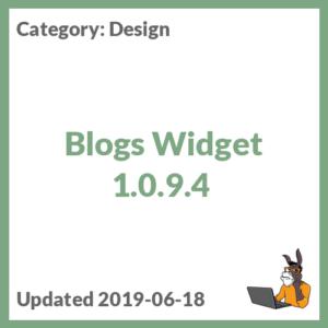 Blogs Widget 1.0.9.4