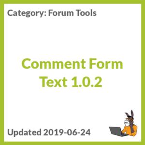 Comment Form Text 1.0.2
