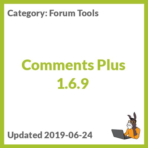 Comments Plus 1.6.9