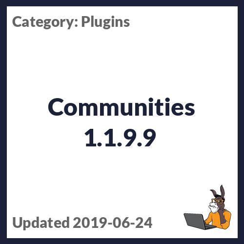 Communities 1.1.9.9