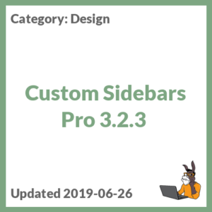 Custom Sidebars Pro 3.2.3