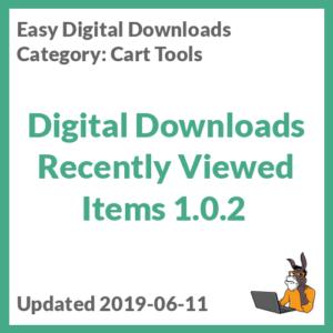 Digital Downloads Recently Viewed Items 1.0.2