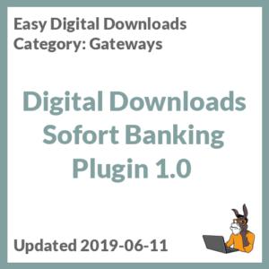 Digital Downloads Sofort Banking Plugin 1.0