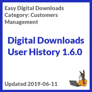 Digital Downloads User History 1.6.0
