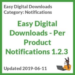 Easy Digital Downloads - Per Product Notifications 1.2.3
