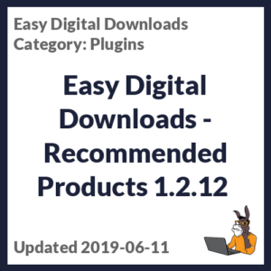Easy Digital Downloads - Recommended Products 1.2.12