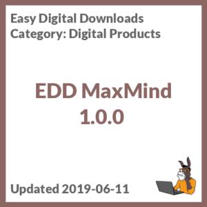 EDD MaxMind 1.0.0