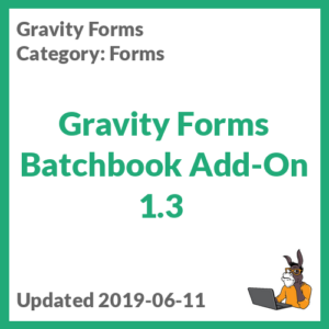 Gravity Forms Batchbook Add-On 1.3