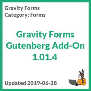 Gravity Forms Gutenberg Add-On 1.01.4