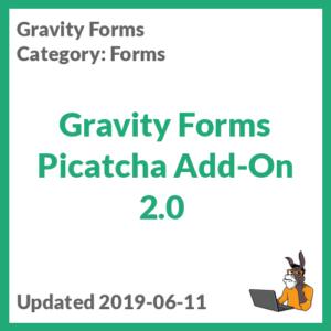 Gravity Forms Picatcha Add-On 2.0