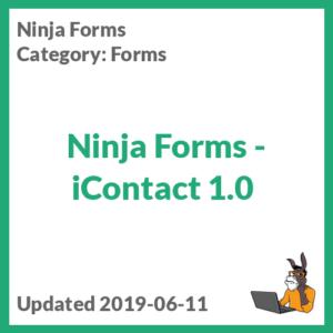 Ninja Forms - iContact 1.0