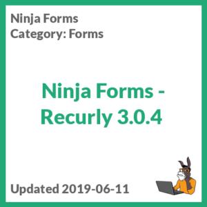 Ninja Forms - Recurly 3.0.4