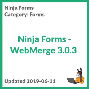 Ninja Forms - WebMerge 3.0.3