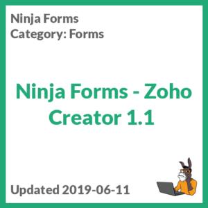 Ninja Forms - Zoho Creator 1.1