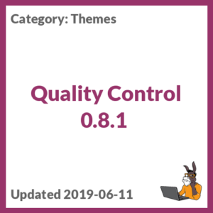 Quality Control 0.8.1